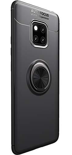 Huawei Companheiro 20 Pro Cover, Tianqin Luz Ultra Fina TPU amortecimento Descompressão Protectionn, Furtivo Anel fecho magnético mídia magnética Compatível Compatível Carros Huawei Companheiro 20 Pro (Preto)