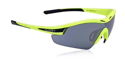 Swiss Eye Sportbrille Novena, Neon Yellow Matt/Black, One Size, 12469