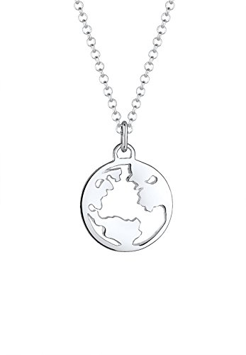 Elli Halskette Weltkugel Globus Wanderlust Reisen 925 Silber (Welt-anhänger-halskette)