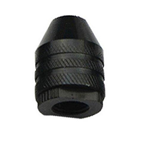 ljym88 - 1 portabrocas Universal de Acero al Carbono + sin Llave para Herramientas giratorias de 0,3 a 3,2 mm, Brocas de Cambio más rápidas, Negro (8 0,75 mm de Cola Corta), 2, 8 0.75mm Short Tail