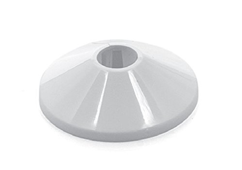 Heizungsrosetten, Heizungsmanschetten, Heizrohrmanschetten, Heizrohrrosetten,Einzelrosetten weiß - 10 Stück - 8 Größen wählbar 12 - 28 mm (16 mm)