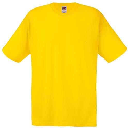 Fruit of the Loom - T-Shirt \'Original T\' / Yellow, XXL