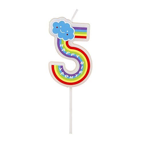 KDSANSO Geburtstagskerze Kinder,Digital Candles Kids Party Supplies Kreative romantische Kuchen Kerzen rauchfreie Geburtstagskerzen,5 9.5cm (Kids Supplies Party)