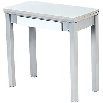 Table De Cuisine Avec Tiroir.Portus Livre Table De Cuisine 80 X 40 80 Cm Avec Tiroir Blanc