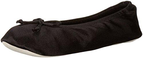 isotoner-womens-satin-ballerina-slipper-black-medium-65-75-m-us