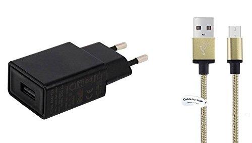 TÜV geprüfte 1,5A Ladegerät. 1m Metal kabel, kompatibel mit Garmin. Schwarze netzladegerät - netzteil mit ladekabel - datenkabel. Reise ladegerät - ladeadapter mit GS Prüfzeichen. USB kabel - aufladekabel mit 1 jahr garantie auf diesem adapter. (Garmin-reise-ladegerät)