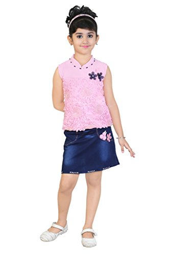 Stylish Denim Skirt- Top Dress (4 Years to 5 Years)
