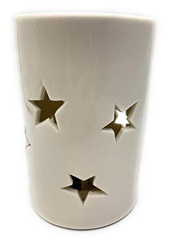 LED Lampe Gastro Pack 12 x Tisch - Fenster - Zimmer Leuchte aus Porzellan Unikat Maße ca H 16 D 10 -