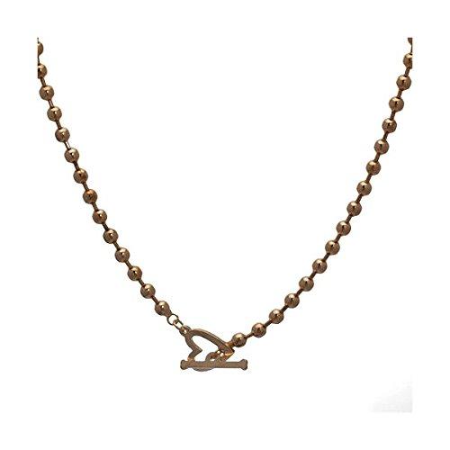 Reia Gold-T-Bar Herz-Halskette