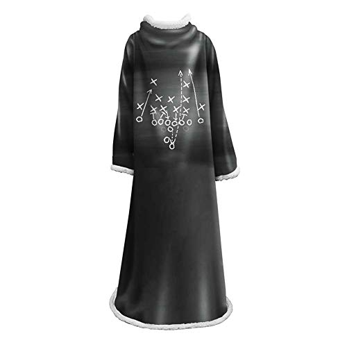 Wearable Kostüm - NICEWL Robe Plüschärmel Decke-Super Soft Warm Comfy Winter Arm Wearable Blanket Kostüm, Haushalt Bademantel Erwachsene Frauen Männer Präsentiert,C