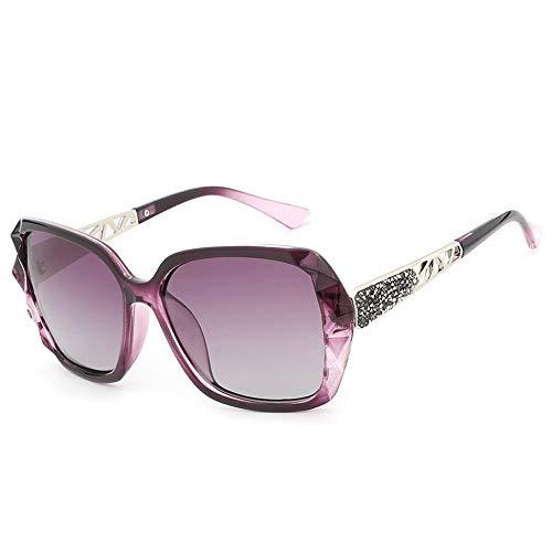 LPLHJD Sunglasses Womens Large Frame Sonnenbrillen Polarisierende UV-Sonnenbrillen (Color : Lila, Size : Kostenlos)