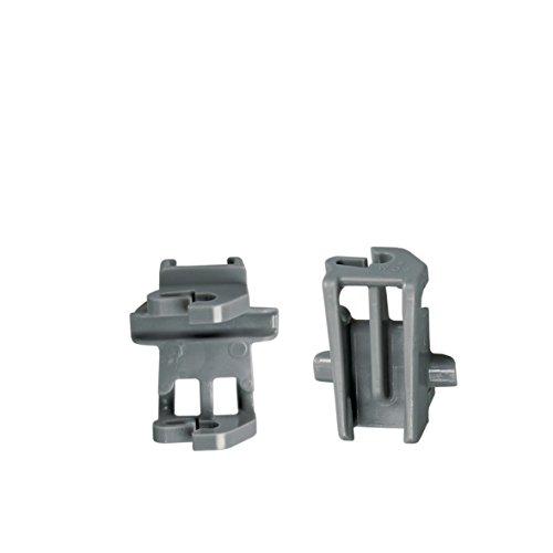 2xLager Klemme Korbablage Oberkorb Spülmaschine Bosch Siemens 611474