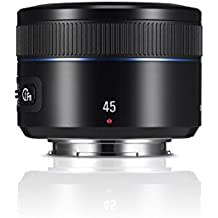 Samsung 45mm f/1.8 i-Function - Objetivo para cámara de Samsung de serie NX (distancia focal fija 69.3mm, apertura f/1.8-22, diámetro: 43mm) negro