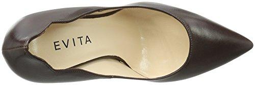 Evita Shoes - Alina, Scarpe col tacco Donna Braun (dunkelbraun 22)