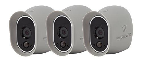 Silikon Skins Sunroof für Arlo HD Smart Security - 100% wire-free Kameras von Wasserstein (3 Pack, Grau)