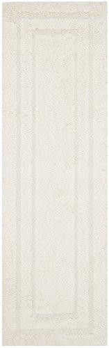 Shag Creme Shag Teppich (Safavieh Florida Shag Collection SG454-1313 Teppich, rund, Beige/Beige Modern 2'3
