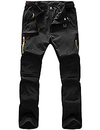 Superora Pantalones Hombres Largo Corto Impermeable Senderismo Táctico  Camuflaje Secado Rápido Fino y Transpirable para 54eec52eb717