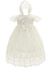besbomig Bebés Vestido de Princesa Elegante Vestido de Bautizo de Cumpleaños Formal - Baby Niñas Bautismo