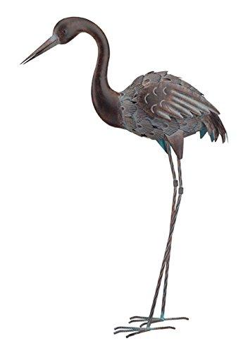 Birdbath Statue (Creekwood 83 cm pulverbeschichtetem Metall, Vogel-Statue/-Ornament 6 cm mit Erdspieß)