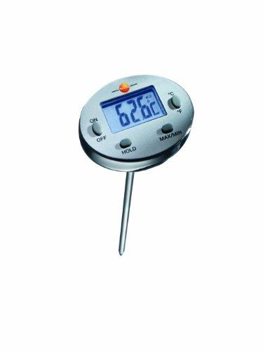 Testo 0560 1113 Wasserdichtes Mini-Thermometer, Länge 120 mm, bis +230 °C, mit Schutzhülse für Fühlerrohr