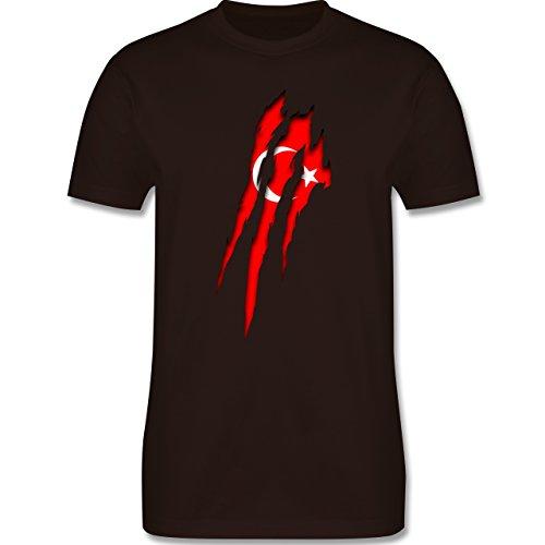 Länder - Türkei Krallenspuren - Herren Premium T-Shirt Braun