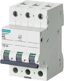 Siemens Indus.Sector LS-Schalter 5SL6363-7 C63A, 3pol SENTRON Leitungsschutzschalter 4001869388823 (Vm Schalter)