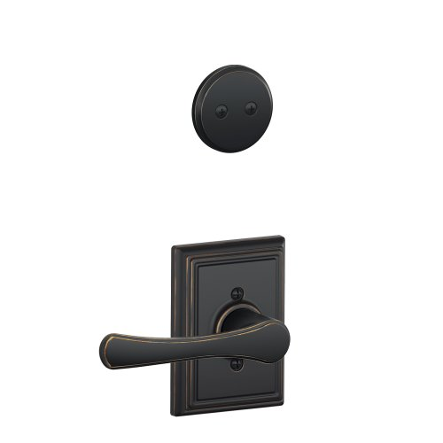 Schlage F94 VLA 716 ADD 134 N N SL Addison Collection Avila Inactive Handleset Interior Lever, Aged Bronze by Schlage Lock Company -