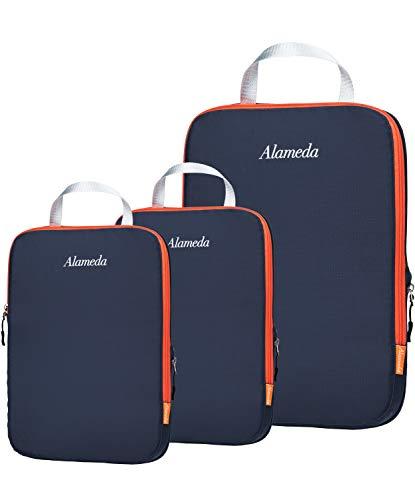 Alameda PC-GO-2M1L, Unisex, Erwachsene (nur Gepäck) Kofferorganizer Grau Grey+orange 3pcs(1*L+2*M)