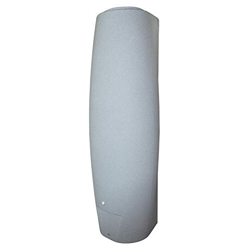 REGENTONNEN SÄULE granit-grau 700l - das schlanke REGENFASS! REGENSPEICHER REGENBEHÄLTER. KOMPAKT und PRAKTISCH mit viel Volumen auf KLEINSTER Stellfläche!
