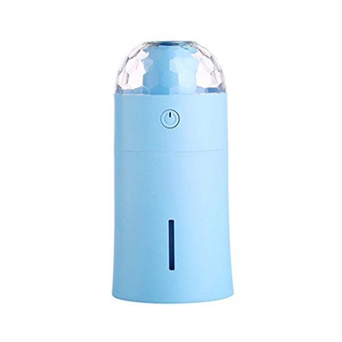 Befeuchter LED Bunte Nachtlicht USB-Projektor Aromatherapie Mini Car Air Purifier Haushalts Sprayer Zerstäuber,Blue