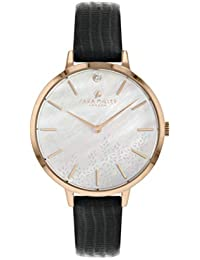 Sara Miller The Diamond Collection SA2052 - Reloj con Correa de Piel chapada en Oro Rosa