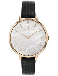 Sara Miller The Diamond Collection SA2052 - Reloj con Correa de Piel chapada en Oro Rosa