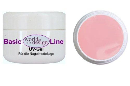 World of Nails-Design BasicLine 1Phasen-Gel Milky Rosé dick, milchig rosa, Babyboomer Look 15 ml