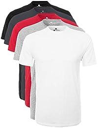 Lower East Herren T-Shirt mit Rundhalsausschnitt, 5er Pack