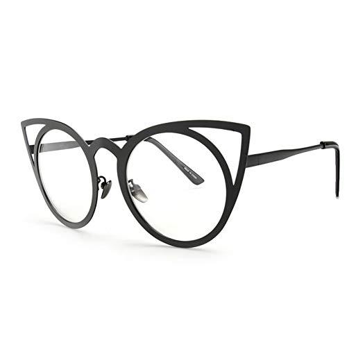 YOGER Sonnenbrillen Neue Frauen Sonnenbrille Vintage Cat Eye Sonnenbrille Metall Brillen Rahmen Spiegel Shades Sunnies