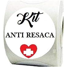 100 Etiquetas Blancas Kit Anti resaca para tu celebración, ...