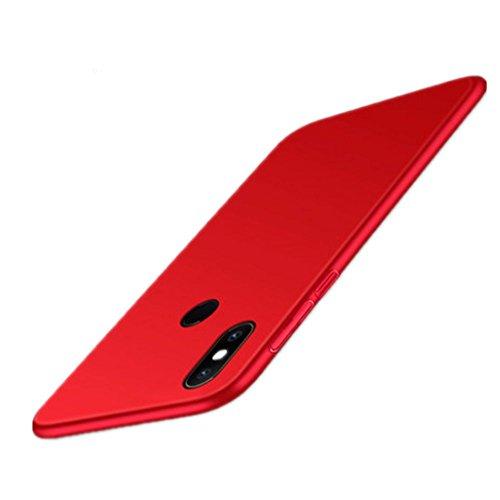 HDOMI Funda Xiaomi Mi Mix 2S, Súper Delgada Cover,Carcasa de Protección Trasera Caso para Xiaomi Mi Mix 2S (Rojo)