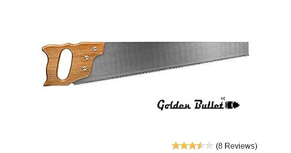 Golden Bullet Carbon Hardened Steel Blade Handsaw with Wooden Handle (16-inch)