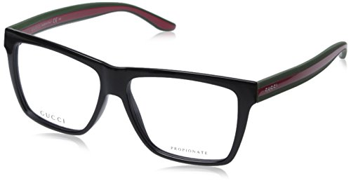 gucci-mens-1008-black-red-green-frame-plastic-eyeglasses