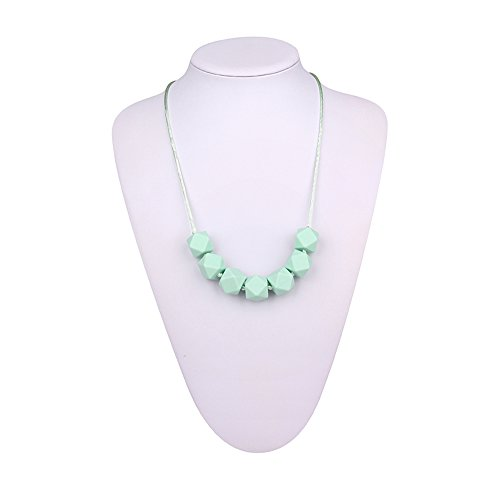 Inchant Silikon Zahnen Halskette für Baby-mit individuell Verknotete BPA-frei Teeeher Perlen Beste für Baby-Dentitionspielzeug Perlen-halskette Spangen