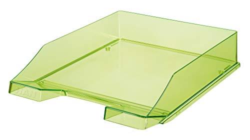 HAN Briefablage KLASSIK 1026-X-27 in Transparent-Grün/Hochwertige, stapelbare Ablage im modernen Design/Für Briefe & Papiere bis Format A4-C4, 6 Stück - Design-stapelbar