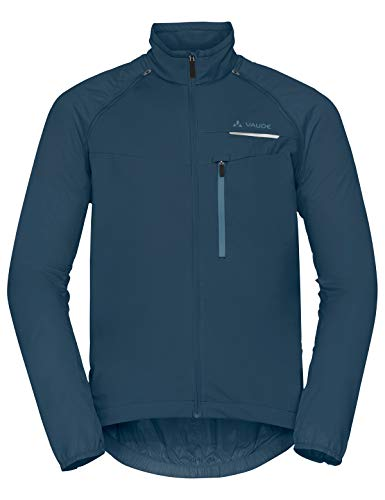 Vaude Herren Windoo Pro ZO Jacket Zip-Off Windjacke für Radsport Jacke baltic sea 54 Front Zip Windbreaker Jacke