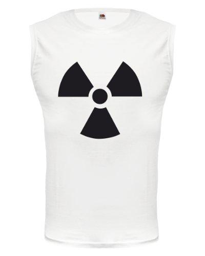 buXsbaum® Tank Top Radioaktiv V1 White-Black