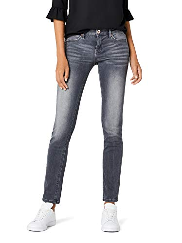 TOM TAILOR für Frauen Jeanshosen Alexa Slim Jeans Grey Denim, 29/30