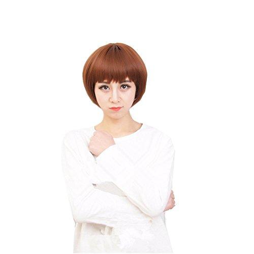 TT Perücken Kurzes Haar Bobo Kopf Gut aussehende kurze glatte Haare natürlich realistisch Fluffy (Gut Kostüme Aussehende Einfach)