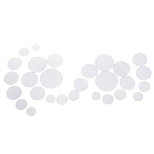 Homyl 3D Spiegel Wandaufkleber, Muster Auswählbar - 28×Kreis