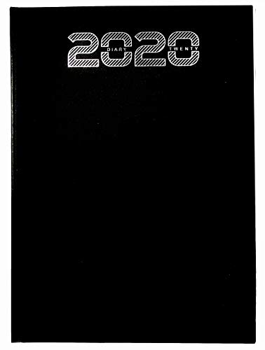 Crownlit A4 Size New Year 2020 Diary with Full Sunday Page, Color: Black