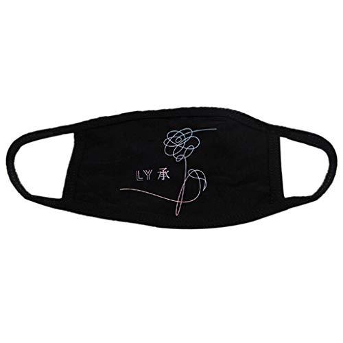 YOFO 1 x Baumwoll-Maske mit Buchstaben, Bedruckt, weiche Maske, Anti-Staub-Schutzmaske für Damen und Herren, B - Billig Bars Fitnessstudio