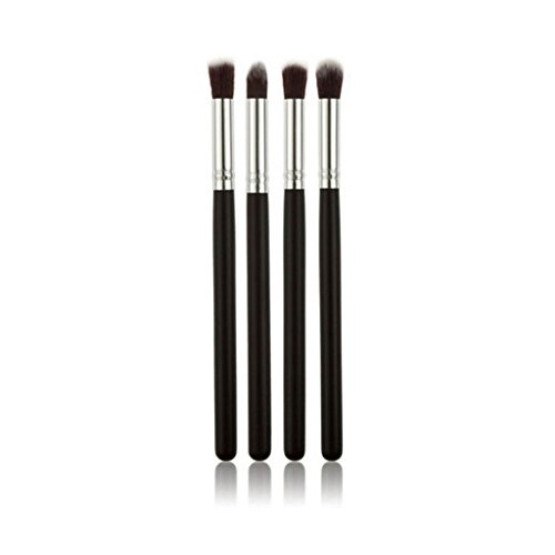 Electomania® Set of 4Pcs Eyeshadow Blending Pencil Brush For Cosmetic Foundation Powder Blush Eyeshadow Kabuki Blending Make Up Brush Beauty Tool (Black)