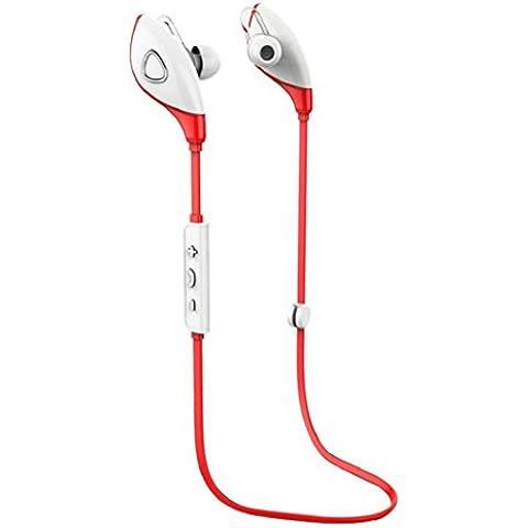 Rojo,Koly Bluetooth estéreo inalámbrico Deportes Auriculares manos libres para el teléfono